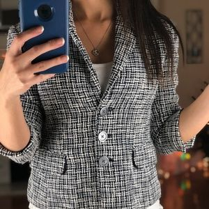 Michael Michael Kors Button Up Career Blazer Coat